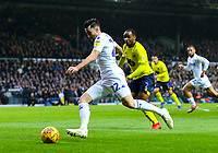 Leeds United's Jack Harrison crosses the ball before Blackburn Rovers' Derrick Williams put into his own net<br /> <br /> Photographer Alex Dodd/CameraSport<br /> <br /> The EFL Sky Bet Championship - Leeds United v Blackburn Rovers - Wednesday 26th December 2018 - Elland Road - Leeds<br /> <br /> World Copyright &copy; 2018 CameraSport. All rights reserved. 43 Linden Ave. Countesthorpe. Leicester. England. LE8 5PG - Tel: +44 (0) 116 277 4147 - admin@camerasport.com - www.camerasport.com