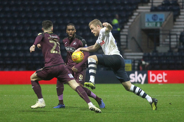 Preston North End's Jayden Stockley<br /> <br /> Photographer Mick Walker/CameraSport<br /> <br /> The EFL Sky Bet Championship - Preston North End v Swansea City - Saturday 12th January 2019 - Deepdale Stadium - Preston<br /> <br /> World Copyright &copy; 2019 CameraSport. All rights reserved. 43 Linden Ave. Countesthorpe. Leicester. England. LE8 5PG - Tel: +44 (0) 116 277 4147 - admin@camerasport.com - www.camerasport.com