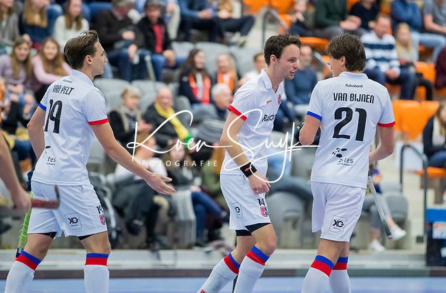 ROTTERDAM  - NK Zaalhockey,   halve finale heren Oranje Rood-SCHC (SCHC wint en plaatst zich voor de finale)  Luuk van Duren (SCHC)    COPYRIGHT KOEN SUYK