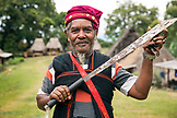 INDONESIA, Flores, Ngadha District, the leader of Belaraghi village