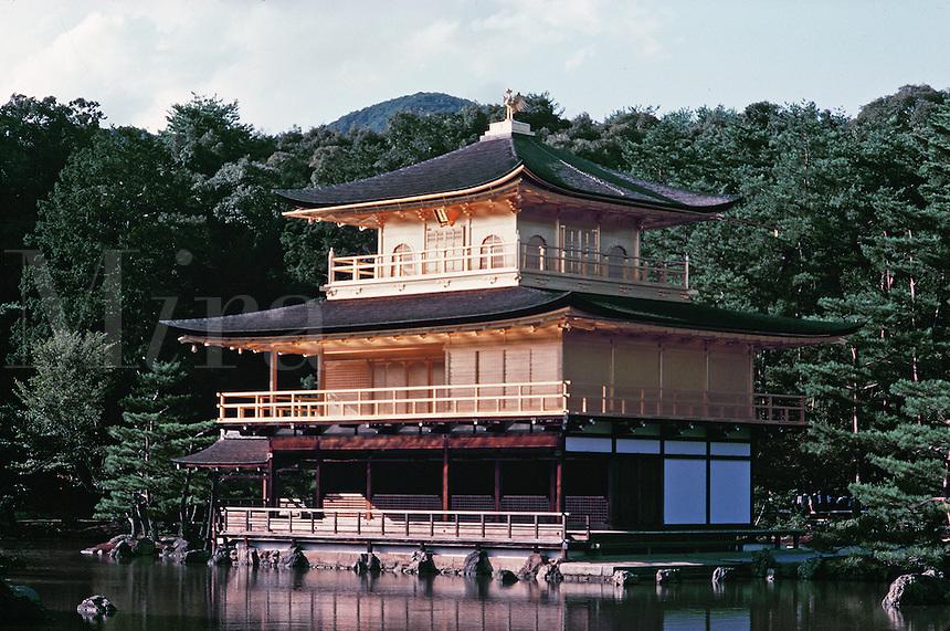 Rukuon-Ji (Kimkak-Ji)The Golden Temple. Kyoto City, Japan.
