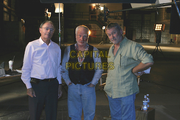 PETER BART (WRITER), RICHARD DREYFUSS & BILL COUTOURIE (DIRECTOR).on the set of Boffo! Tinseltown's Bombs and Blockbuster.*Editorial Use Only*.www.capitalpictures.com.sales@capitalpictures.com.Supplied by Capital Pictures.