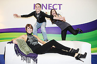 "11/10/2010. GILLIAN QUINN LAUNCHES XBOX KINECT. Gillian Quinn, her daughter Aisling and son Mikey were on hand today to launch the Kinect experiential centre on Grafton Street and got an exclusive preview of Kinect for Xbox 360 ahead of its launch on 10th November.  The doors of the Kinect experiential centre will officially open on Tuesday 12th October at midday and the public will be able to enjoy fun new games such as ""Kinect Sports,"" ""Kinectimals,"" ""Kinect Joy Ride"" and ""Kinect Adventures"" and MTV Games' and Harmonix's ""Dance Central.""  The Kinect experiential centre will be open from now until Sunday 31st October. Kinect for Xbox 360 makes it possible to play in a whole new way by identifying your movement and body position to create a truly immersive entertainment experience. See a ball? Just kick it. Browse through a menu with the wave of a hand. Picture James Horan/Collins Photos"