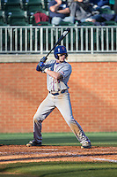 Taylor Nichols (14) of the Louisiana Tech Bulldogs at bat against the Charlotte 49ers at Hayes Stadium on March 28, 2015 in Charlotte, North Carolina.  The 49ers defeated the Bulldogs 9-5 in game two of a double header.  (Brian Westerholt/Four Seam Images)