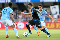 San Jose, CA - Saturday March 31, 2018: Vako during a Major League Soccer (MLS) match between the San Jose Earthquakes and New York City FC at Avaya Stadium.
