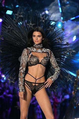 NEW YORK, NY - NOVEMBER 08: Kendall Jenner at the 2018 Victoria's Secret Fashion Show at Pier 94 on November 8, 2018 in New York City. Credit: John Palmer/MediaPunch