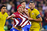 Diego Roberto Godin Leal of Atletico de Madrid battles for the ball with Aleksandr Gatskan of FC Rostov during their 2016-17 UEFA Champions League match between Atletico Madrid and FC Rostov at the Vicente Calderon Stadium on 01 November 2016 in Madrid, Spain. Photo by Diego Gonzalez Souto / Power Sport Images