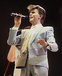 David Bowie performing at Live Aid in 1985