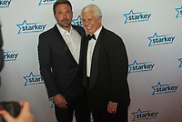 "ST. PAUL, MN JULY 16: Ben Affleck poses with Starkey founder Bill Austin on the red carpet at the Starkey Hearing Foundation ""So The World May Hear Awards Gala"" on July 16, 2017 in St. Paul, Minnesota. Credit: Tony Nelson/Mediapunch"