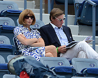 FLUSHING NY- SEPTEMBER 3: Anna Wintour is sighted watching Serena Williams Vs Andrea Hlavackova match on Arthur Ashe stadium at the USTA Billie Jean King National Tennis Center on September 3, 2012 in in Flushing Queens. Credit: mpi04/MediaPunch Inc. ***NO NY NEWSPAPERS*** /NortePhoto.com<br /> <br /> **CREDITO*OBLIGATORIO** <br /> *No*Venta*A*Terceros*<br /> *No*Sale*So*third*<br /> *** No*Se*Permite*Hacer*Archivo**<br /> *No*Sale*So*third*