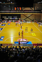 A general view of the ANZ Netball Championship match between the Central Pulse and Waikato Bay Of Plenty Magic at TSB Bank Arena, Wellington, New Zealand on Monday, 30 March 2015. Photo: Dave Lintott / lintottphoto.co.nz