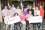 Castleisland Races committee presented cheques to local charities Castleisland and District Social Club and Glebe Lodge at Tom McCarthy's Bar Castleisland on Friday night front row l-r: Donal Nelligan, Kathleen Healy, Gillian Kenny, Charlie Farrelly, Michael O'Leary. Back row: John Ryan, Bill Reidy, James Maher, Pat Hartnett, Jim Lordan, Eileen Murphy, Martin Conway, Liam Murphy Ted Kenny, Kay Reidy and Pat Cahill..