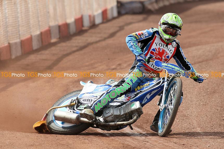 Paul Starke (13) rides during British Under-21 Speedway Championship Practice at Arena Essex Raceway, Purfleet -  16/04/10 - MANDATORY CREDIT: Gavin Ellis/TGSPHOTO - Self billing applies where appropriate - Tel: 0845 094 6026