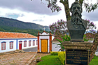 Busto de Joaquim Jose da Silva Xavier ( Tiradentes) na cidade de Tiradentes. Minas Gerais. 2012. Foto de Ana Druzian.