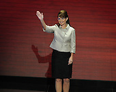 St. Paul, MN - September 3, 2008 -- Governor Sarah Palin of Alaska accepts the Republican nomination as Vice President of the United States on day 3 of the 2008 Republican National Convention at the Xcel Energy Center in Saint Paul, Minnesota on Wednesday, September 3, 2008.Credit: Ron Sachs / CNP.(RESTRICTION: NO New York or New Jersey Newspapers or newspapers within a 75 mile radius of New York City)