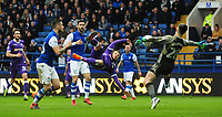 Sheffield Wednesday's Joe Wildsmith denies Bolton Wanderers' Adam Le Fondre from close range<br /> <br /> Photographer Chris Vaughan/CameraSport<br /> <br /> The EFL Sky Bet League Two - Mansfield Town v Lincoln City - Tuesday 6th March 2018 - Field Mill - Mansfield<br /> <br /> World Copyright &copy; 2018 CameraSport. All rights reserved. 43 Linden Ave. Countesthorpe. Leicester. England. LE8 5PG - Tel: +44 (0) 116 277 4147 - admin@camerasport.com - www.camerasport.com