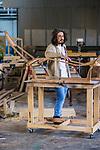 Home & Life , Crafstman : Luke Makris artist and upholsteror at his workshop Hendon. Photo: Nick Clayton