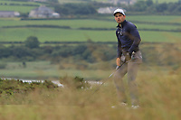 Keith Egan (Carton House) on the 18th tee during Round 2 of the North of Ireland Amateur Open Championship 2019 at Portstewart Golf Club, Portstewart, Co. Antrim on Tuesday 9th July 2019.<br /> Picture:  Thos Caffrey / Golffile<br /> <br /> All photos usage must carry mandatory copyright credit (© Golffile | Thos Caffrey)