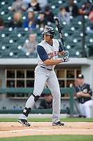 Steven Moya (24) of the Toledo Mud Hens at bat against the Charlotte Knights at BB&T BallPark on April 27, 2015 in Charlotte, North Carolina.  The Knights defeated the Mud Hens 7-6 in 10 innings.   (Brian Westerholt/Four Seam Images)