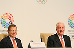 (L to R) Gilbert Felli, Craig Reedie, MARCH 7, 2013 : International Olympic Committee (IOC) Vice President Craig Reedie and Executive Director Gilbert Felli attends a Press conference about presentations of Tokyo 2020 bid Committee in Tokyo, Japan. (Photo by Yusuke Nakanishi/AFLO SPORT).