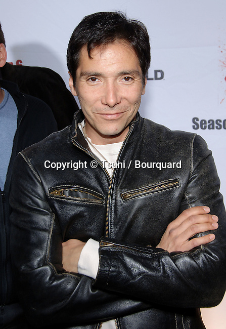 Benito Martinez arriving at the THE SHIELD Season 6 Premiere Party at the Cabana Club In Los Angeles.<br /> <br /> 3/4<br /> eye contact