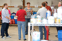 NWA Democrat-Gazette/DAVID GOTTSCHALK  Sophia Stephenson (center), director of environmental affairs with Washington County, leads a tour Monday, September 28, 2015 of the Household Hazardous Waste Facility in Fayetteville. Members of the Quorum Court and County Officials toured the Household Hazardous Waste Facility, bridges and other road  construction sites in the county.