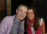 """Melissa Claire Egan - AMC - """"Annie"""" (R) poses with Marian Seldes at the 22nd Annual Broadway Flea Market and Grand Auction to benefit Broadway Cares / Equity Fights Aids on Sunday 21, 2008 in Shubert Alley, New York City, NY. (Photo by Sue Coflin/Max Photos)"""