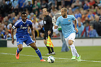Pablo Zabaleta (right) Manchester City in action..Manchester City defeated Chelsea 4-3 in an international friendly at Busch Stadium, St Louis, Missouri.