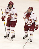 Ryan Little (BC - 20), Kali Flanagan (BC - 10) - The Boston College Eagles defeated the visiting Boston University Terriers 5-3 (EN) on Friday, November 4, 2016, at Kelley Rink in Conte Forum in Chestnut Hill, Massachusetts.The Boston College Eagles defeated the visiting Boston University Terriers 5-3 (EN) on Friday, November 4, 2016, at Kelley Rink in Conte Forum in Chestnut Hill, Massachusetts.
