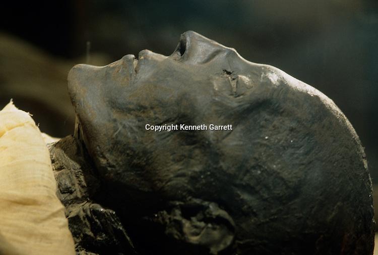 Mummy of Seti I, pharaoh 19th dynasty, New Kingdom.
