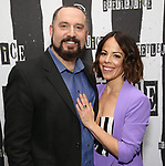 Adam Dannheisser and Leslie Kritzer attends Broadway's 'Beetlejuice' - First Look Photo Call at Subculture  on February 28, 2019 in New York City.