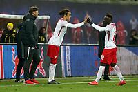 Einwechselung Yussuf Yurary Poulsen, Auswechselung Jean Kevin Augustin  <br /> 1. Bundesliga /  2017/2018 / 03.03.2018 / RB Leipzig RBL vs. BVB Borussia Dortmund 180303049 /        *** Local Caption *** © pixathlon<br /> Contact: +49-40-22 63 02 60 , info@pixathlon.de