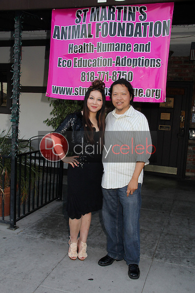 "Alice Aoki, Edwin Santos<br /> Christy Oldham's Healthy Dogs Presents ""No Excuse For Animal Abuse"" Fashion Show to benefit St. Martin Animal Foundation, Joes's Great American Bar and Grill, Burbank, CA 08-30-14<br /> David Edwards/DailyCeleb.com 818-249-4998"