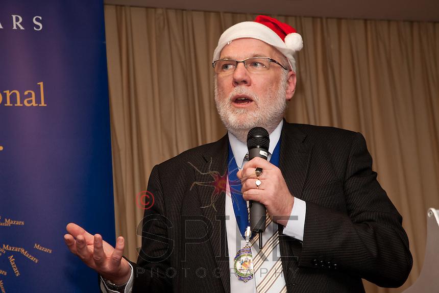 Santa Junior? Club president Steve Potts gets in a festive mood