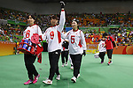 Japan team group (JPN),<br /> SEPTEMBER 12, 2016 - Goalball : <br /> Preliminary Round<br /> match between Japan - Algeria<br /> at Future Arena<br /> during the Rio 2016 Paralympic Games in Rio de Janeiro, Brazil.<br /> (Photo by Shingo Ito/AFLO)