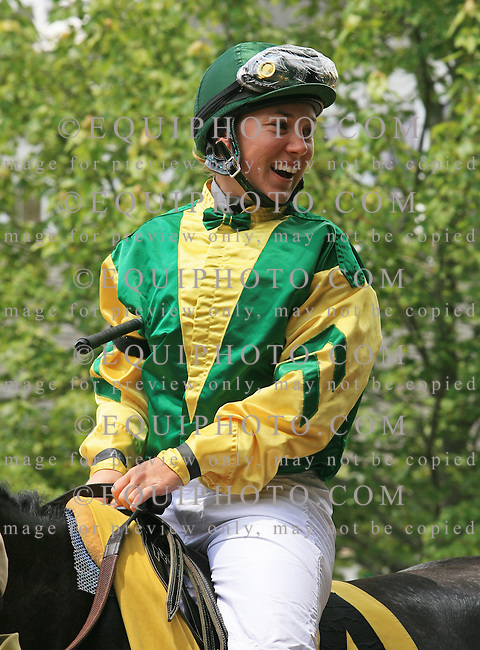 Jockey Alice Cartwright makes her second start at Monmouth Park Racetrack in Oceanport, N.J..  Photo By Bill Denver/EQUI-PHOTO..