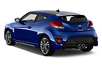 Car pictures of rear three quarter view of 2017 Hyundai Veloster Turbo-Manual 5 Door Hatchback Angular Rear