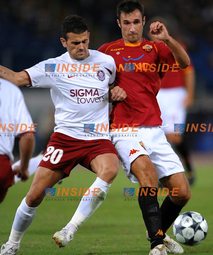 Mirko Vucinic (Roma) Cadu' (Cluj)<br /> Roma 16/9/2008 Stadio &quot;Olimpico&quot; <br /> Champions league 2008/2009<br /> AS Roma - CFR Cluj (1-2)<br /> Foto Andrea Staccioli Insidefoto