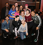 "Cast members making their Broadway debuts during the Actors' Equity Opening Night Gypsy Robe Ceremony honoring Brendon Stimson for ""Mean Girls"" at the August Wilson Theatre Theatre on April 8, 2018 in New York City."