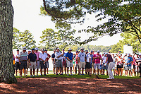 Louis Oosthuizen (RSA) hits from the trees on 1 during round 1 of the 2019 Tour Championship, East Lake Golf Course, Atlanta, Georgia, USA. 8/22/2019.<br /> Picture Ken Murray / Golffile.ie<br /> <br /> All photo usage must carry mandatory copyright credit (© Golffile | Ken Murray)