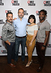"""Raúl Esparza, David Mason, Krysta Rodriguez, and W. Tré Davis attends the photo call for the cast and creative team of MCC Theater's New York Premiere of """"Seared"""" on September 11, 2019 at Artesia Wine Bar in New York City."""