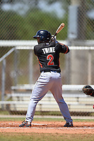 Miami Marlins Justin Twine (2) during a minor league spring training game against the St. Louis Cardinals on March 31, 2015 at the Roger Dean Complex in Jupiter, Florida.  (Mike Janes/Four Seam Images)