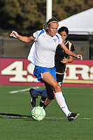19 July 2009: Stacy Bishop of the Boston Breakers maneuvers the ball upfield while closely followed by Tina DiMartino of the FC Gold Pride during the game at Buck Shaw Stadium in Santa Clara, California.  The Boston Breakers defeated the FC Gold Pride, 1-0.