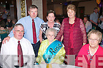 9480-9483.90 YEARS YOUNG: Margaret O'Brien, Firies (seated centre) enjoying her 90th birthday in the Grand Hotel, Tralee last Saturday night where over 100 family and friends turned up to celebrate her special day. Seated l-r: Flor and Margaret O'Brien with Mrs Kit Mulchinock. Back l-r:-: Tony, Kay and Christy O'Brien.