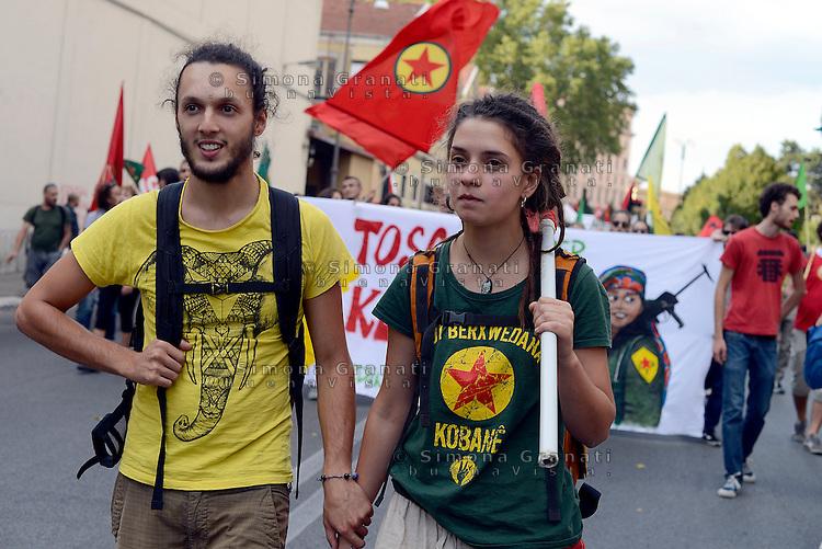 Roma, 24 Settembre 2016<br /> Manifestazione nazionale in solidarietà con il Kurdistan, a fianco della resistenza curda