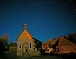 Barkerville, Historic Town, under a starry sky, B.C.