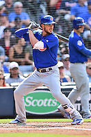 Chicago Cubs third baseman Kris Bryant (17) awaits a pitch during a game against the Atlanta Braves at Turner Field on June 11, 2016 in Atlanta, Georgia. The Cubs defeated the Braves 8-2. (Tony Farlow/Four Seam Images)