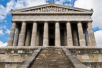"Walhalla Temple, comissioned in 1826 by King Ludwig I of Bavaria is modeled after the Parthenon to serve  as a ""Germanic hall of fame."" The temple contains 191 busts and plaques of famous Germanic speaking people."