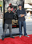 """Actors Joshua Gomez and Zachary Levi arrive at the 2008 Los Angeles Film Festival's """"HellBoy: II The Golden Army"""" Premiere at the Mann Village Westwood Theater on June 28, 2008 in Westwood, California."""