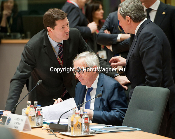 Brussels, Belgium -- March 23, 2018 -- European Council / Summit, meeting of Heads of State / Government at the Europa building - seat of the European Council and Council of the European Union; here, Jean-Claude Juncker (ce), President of the European Commission, with the newly appointed Secretary-General of the European Commission, Martin Selmayr (le) -- Photo: © HorstWagner.eu